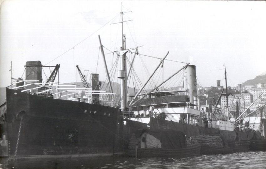 Figure . The SS Nippon, a cargo ship owned by the Swedish East Asiatic Co., which was shipwrecked on Scarborough Shoal in 1913, and became the subject of a civil case that was litigated all the way up to the Supreme Court of the Philippines. (Source: 7seasvessels.com)