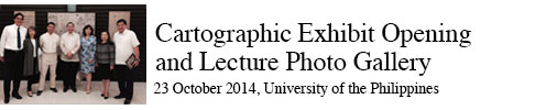 Cartographic Exhibit Opening Lecture at the University of the Philippines Asian Center 23 October 2014