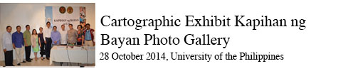 Cartographic Exhibit Kapihan ng Bayan Photo Gallery 28 October 2014, University of the Philippines