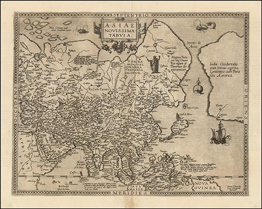 1578 Asiae Novissima Tabula