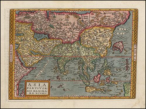 1598 Asia Partiu Orbis Maxima MDXCVIII