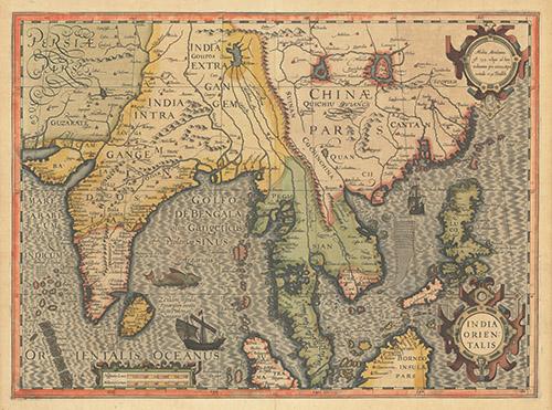 1606 India Orientalis by Hondius