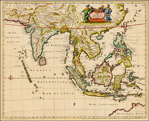 1638 India Orientalis et Insulae Adiecentes (with early location of Northwestern Australia)