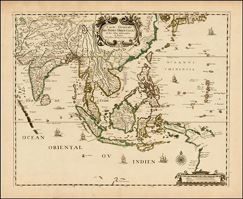 1650 Carte Generale Des Indes Orientales et des Isles Adiacentes