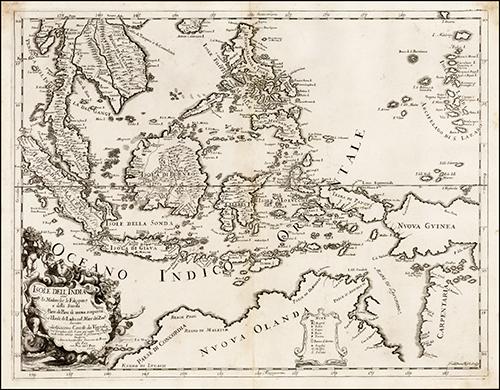 1683 Isole Dell'India cioe le Molucche la Filippine e della Sonda Parte de Paesi di nuova scoperta e l'Isole de Ladri ne Mare del Zud