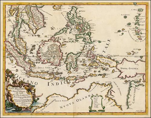 1677 Carte des Indes Orientales