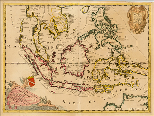 1690 Isole Dell' Indie, diuise in Filippine, Molucche, e della Sonda