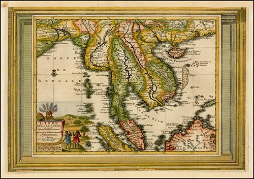 1700 L'Inde De La Le Gange Suivant les Nouvelles Observations (Malaysia, Straits of Malaca, Southeast Asia, Borneo, etc.)