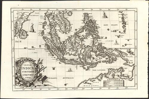 1702 Insulae Indicae Cum Terris Circumvicinis