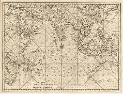 1724 Tabula Indiae Orientalis et Regnorum Adjacentium J. Van Braam et G. onder de Linden