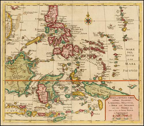 1740 Nuova et Accurata Carta dell' Isole Filippine, Ladrones, a Moluccos o Isole della Speziarie come anco Celebes &c.