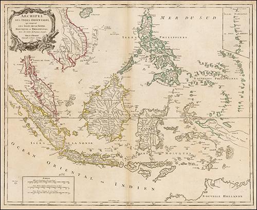 1750 Archipel Des Indes Orientales, qui comprend Les Isles De La Sonde, Moluques et Philippines, tirees des Cartes du Neptune Oriental