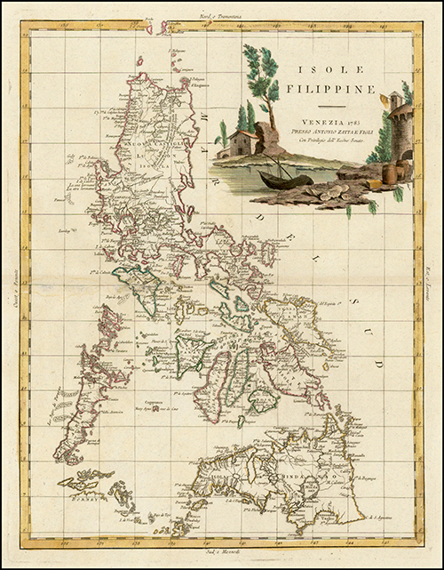 1785 Isole Filippine