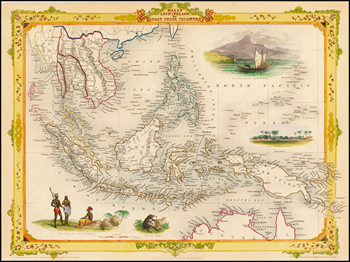 1851 Malay Archipelago, or East India Islands