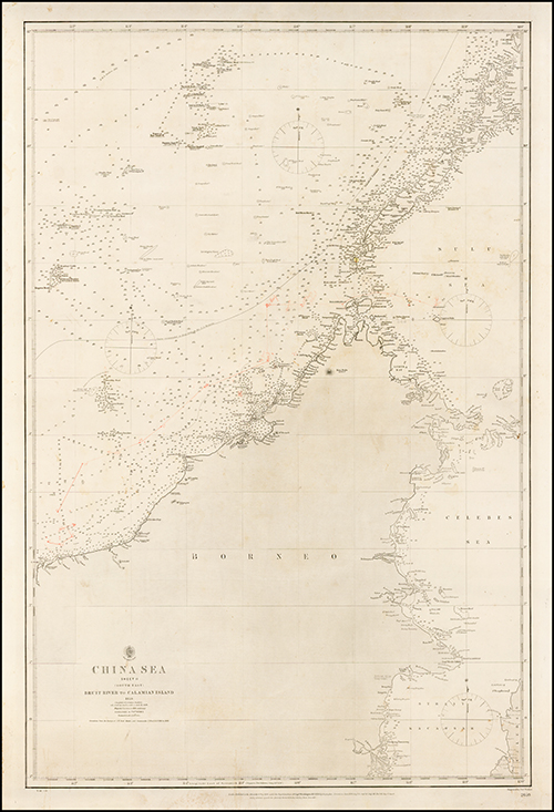 1859 China Sea. Sheet II (South East), Bruit River to Calamian Island