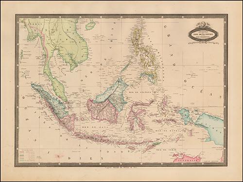 1860 Borneo, Iles De La Sonde, Celebes, Moluques, et Philippines