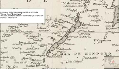 1865 Hidrographia Carta Esferica del Oceano Indio