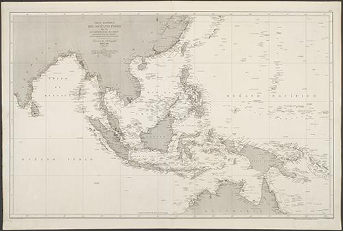 1871 Hidographia Carta General del Oceano Indico (Zoom Image)