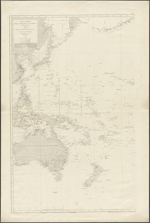 1897 Hidographia Carta General del Oceano (Zoom Image)